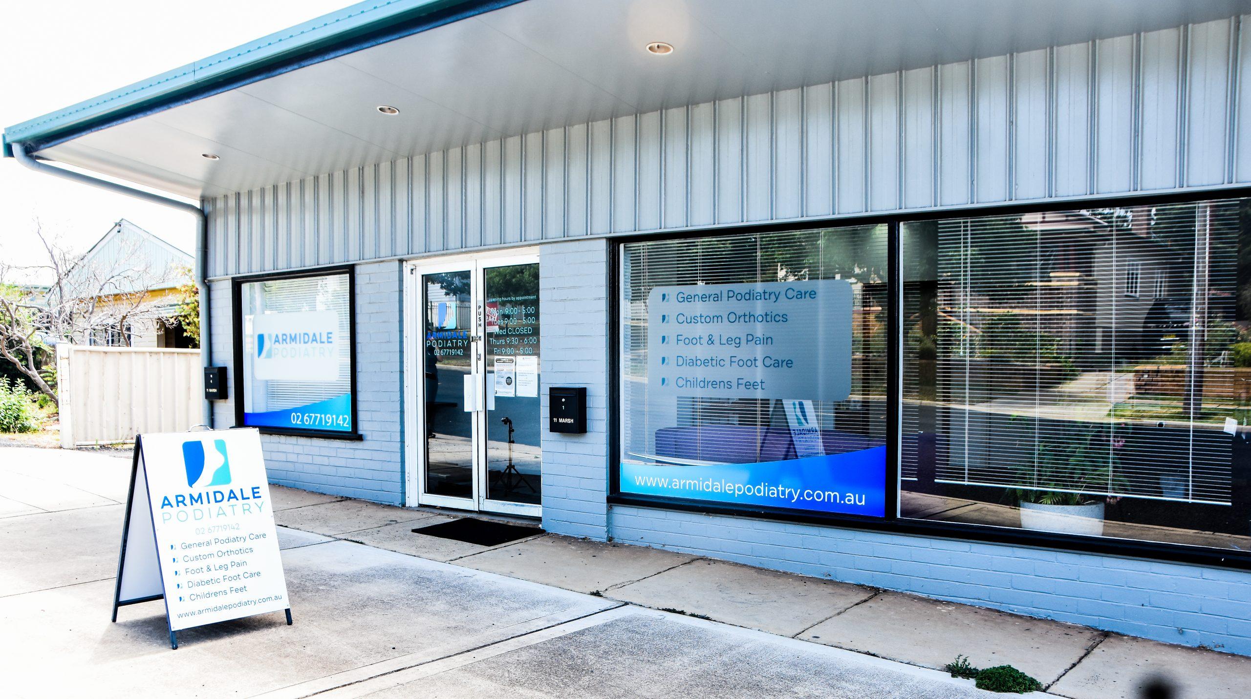 The Armidale Podiatry Exterior Shopfront